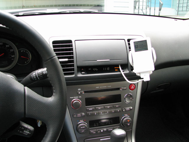 My 2005 Legacy iPod input hack -- no blank CD required! - Subaru